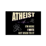 Atheist I Vote Rectangle Magnet (100 pack)