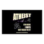 Atheist I Vote Rectangle Sticker 50 pk)