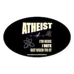 Atheist I Vote Oval Sticker (50 pk)