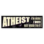 Atheist I Vote Bumper Sticker (10 pk)