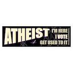 Atheist I Vote Bumper Sticker
