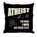 Atheist I Vote Throw Pillow