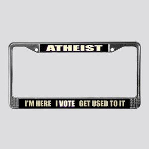 Atheist I Vote License Plate Frame