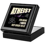 Atheist I Vote Keepsake Box