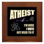 Atheist I Vote Framed Tile