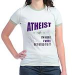 Atheist I Vote Jr. Ringer T-Shirt