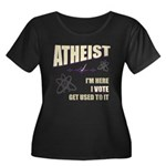 Atheist I Vote Women's Plus Size Scoop Neck Dark T