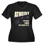Atheist I Vote Women's Plus Size V-Neck Dark T-Shi