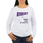 Atheist I Vote Women's Long Sleeve T-Shirt