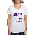 Atheist I Vote Women's V-Neck T-Shirt