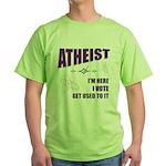 Atheist I Vote Green T-Shirt
