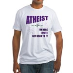 Atheist I Vote Fitted T-Shirt