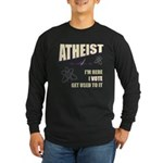 Atheist I Vote Long Sleeve Dark T-Shirt