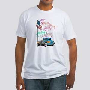 Patriotic Hot Rod Fitted T-Shirt