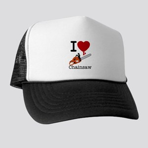 I Heart Chainsaw Trucker Hat