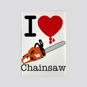 I Heart Chainsaw Rectangle Magnet