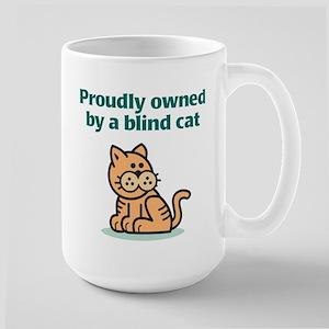 Proudly Owned (Cat) Large Mug