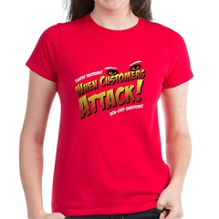 When Customers Attack Women's T-Shirt (red)