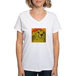 Cheetah of the African Sun Women's V-Neck T-Shirt