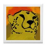 Cheetah of the African Sun Tile Coaster
