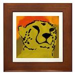 Cheetah of the African Sun Framed Tile