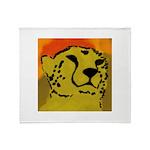 Cheetah of the African Sun Throw Blanket