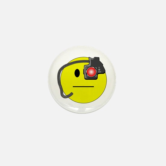 Assimilated Smiley Mini Button