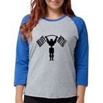 Bodybuilding Heavy Metal Womens Baseball Tee