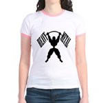 Bodybuilding Heavy Metal Jr. Ringer T-Shirt
