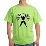 Bodybuilding Heavy Metal Green T-Shirt