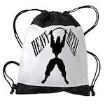 Bodybuilding Heavy Metal Drawstring Bag