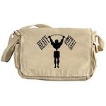 Bodybuilding Heavy Metal Messenger Bag