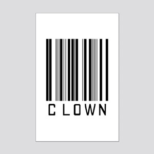 Clown Barcode Mini Poster Print