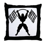 Bodybuilding Heavy Metal Throw Pillow