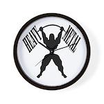 Bodybuilding Heavy Metal Wall Clock