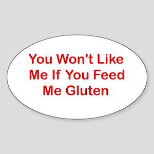 Won't Like Me - Gluten Oval Sticker