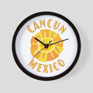 Cancun Sun - Wall Clock