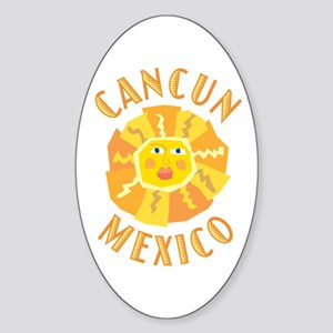 Cancun Sun - Oval Sticker