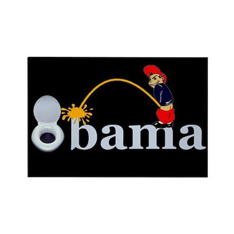 Whiz on Obama Rectangle Magnet (100 pack)