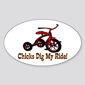 Dig My Ride Oval Sticker