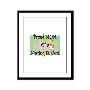 nursing student hierarchy Framed Panel Print