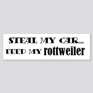 Feed My Rottweiler Bumper Sticker