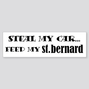 Feed My Saint Bernard Bumper Sticker