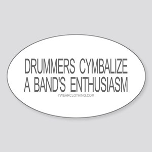 Drummers Cymbalize Oval Sticker