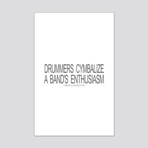 Drummers Cymbalize Mini Poster Print