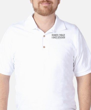 Drummers Cymbalize Golf Shirt