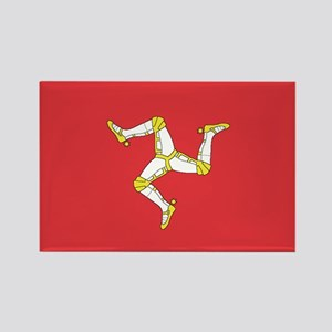 MAN-ISLE-FLAG Rectangle Magnet