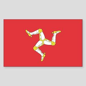 MAN-ISLE-FLAG Rectangle Sticker