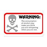 Warning: alcohol whispering Mini Poster Print