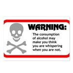 Warning: alcohol whispering Postcards (Package of